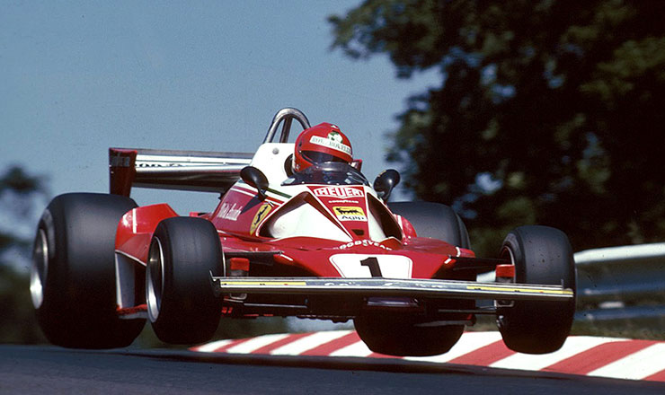 Niki Lauda al GP di Germania 1976