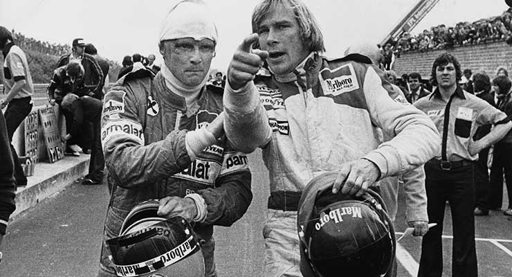 james hunt e niki lauda