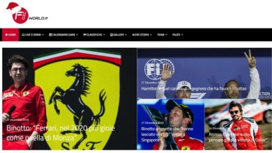 F1World home page